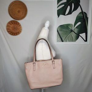 Kate Spade Pink Leather Zipper Tote Bag Weekender